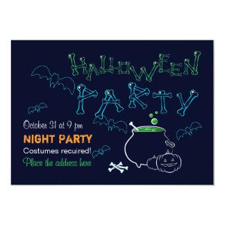 Cartão Partido da noite do Dia das Bruxas