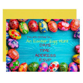 Cartão Partido da páscoa da caça do ovo da páscoa