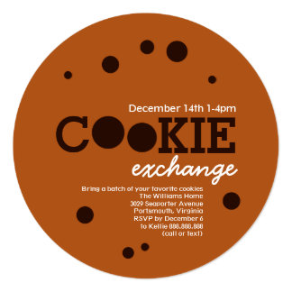 Cartão Partido da troca da troca do biscoito dos pedaços