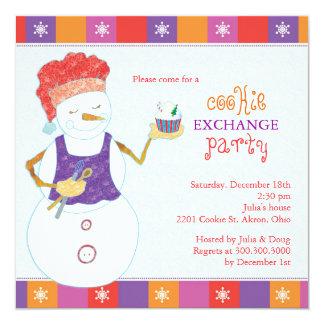 Cartão Partido da troca do biscoito do feriado do