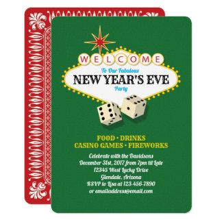 Cartão Partido da véspera de ano novo do famoso de Las