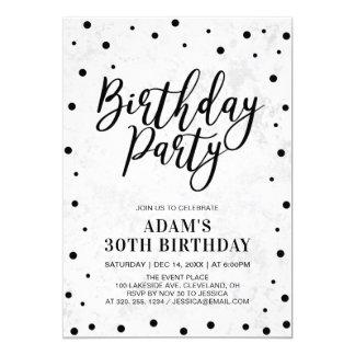 Cartão Partido de aniversário de 30 anos adulto de
