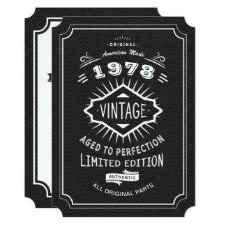 Cartão Partido de aniversário de 40 anos do vintage do