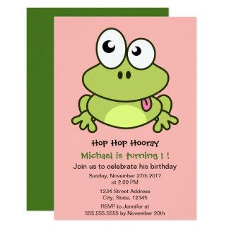 Cartão Partido de aniversário de criança bonito engraçado