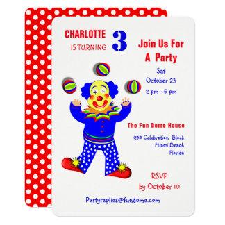 Cartão Partido de aniversário de criança do divertimento