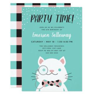Cartão Partido de aniversário de criança extravagante de