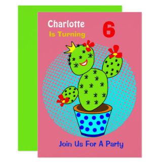 Cartão partido de aniversário de criança temático do