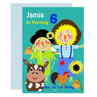 Cartão Partido de aniversário de criança temático dos