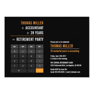 Cartão Partido de aposentadoria da calculadora da finança