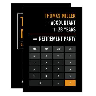 Cartão Partido de aposentadoria do contador