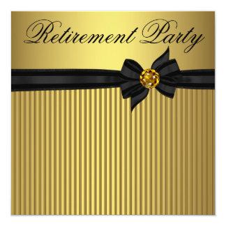Cartão Partido de aposentadoria elegante da mulher do