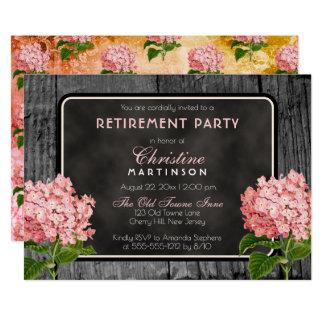 Cartão Partido de aposentadoria floral do vintage de