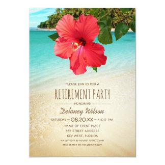 Cartão Partido de aposentadoria incorporado da praia do