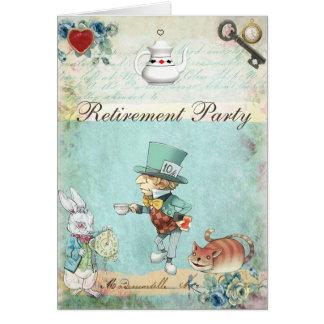 Cartão Partido de aposentadoria louco do país das