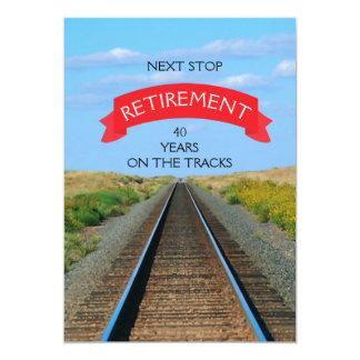 Cartão Partido de aposentadoria Railway da trilha do trem