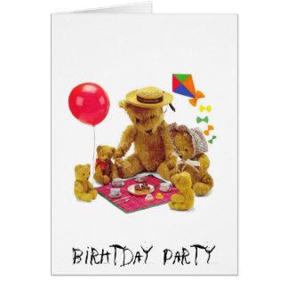 Cartão Partido de Birhtday