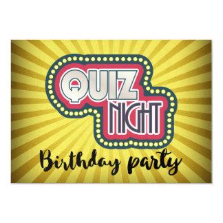 Cartão Partido de BirthdayTrivia da noite do questionário