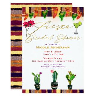 Cartão Partido de chá de panela moderno da festa do cacto