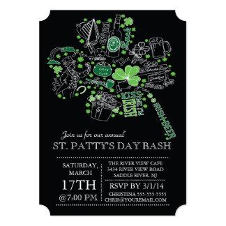 Cartão Partido de comensal da festança do dia de St
