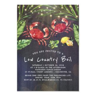 Cartão Partido de comensal do Cookout do caranguejo da