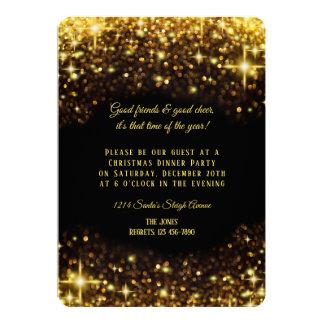 Cartão Partido de comensal elegante do Natal do brilho do