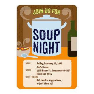 Cartão Partido de comensal ocasional da noite da sopa