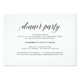 Cartão Partido de comensal simples elegante da tipografia