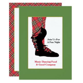 Cartão Partido de dança escocês de Peraonalized do Tartan