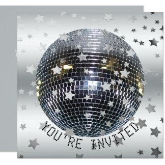 Cartão Partido de disco 70s retro da festa de aniversário