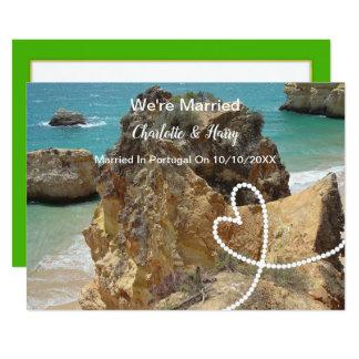 Cartão Partido de recepção de casamento do cargo casado