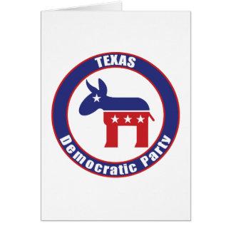 Cartão Partido Democrática de Texas