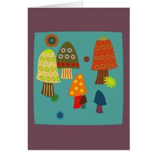 Cartão Partido do cogumelo