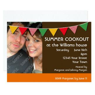 Cartão Partido do Cookout do verão