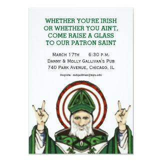 Cartão Partido do dia de St Patrick