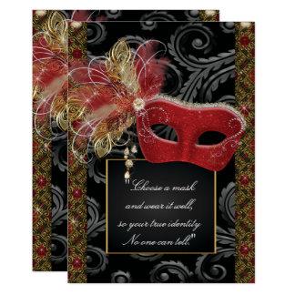 Cartão Partido do doce 16 do mascarada, marmelo Anos do