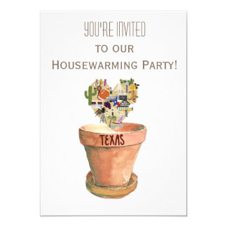Cartão Partido do Housewarming de Texas
