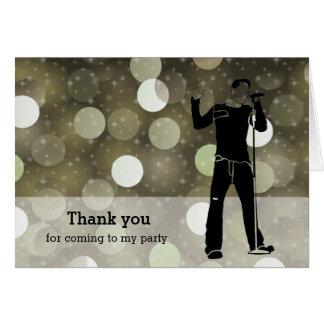 Cartão Partido do karaoke