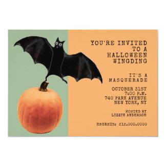 Cartão Partido do mascarada do Dia das Bruxas