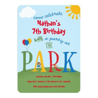 Cartão Partido do parque - cores preliminares