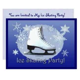 Cartão Partido do patinagem no gelo!