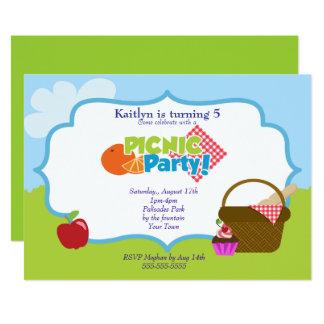 Cartão Partido do piquenique do parque