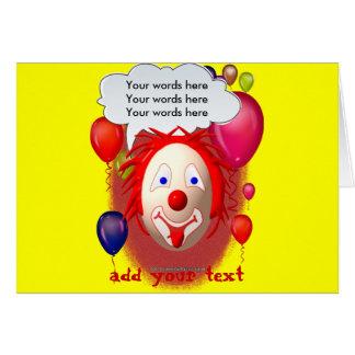 Cartão Partido do tema do palhaço