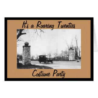 Cartão Partido do traje do tema dos anos 20 rujir