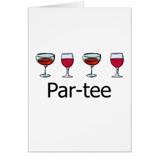Cartão partido do vidro de vinho do Paridade-T