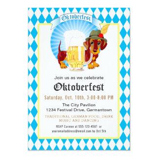 Cartão Partido e celebração de Oktoberfest