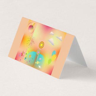 Cartão partido e cores