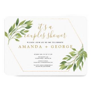 Cartão Partido elegante das hortaliças e do ouro do chá
