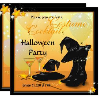Cartão Partido Enchanting da bruxa do cocktail do Dia das