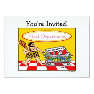 Cartão Partido engraçado do Cookout do amante da carne do
