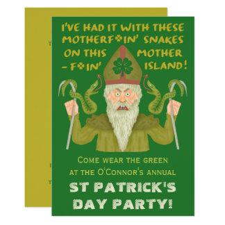 Cartão Partido engraçado do irlandês da piada dos cobras